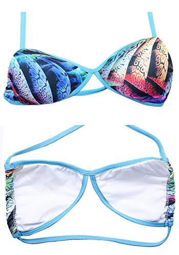 Botobkn Donne 2 pc Brasiliano Bikini Costume Fili Bikini Set Green column