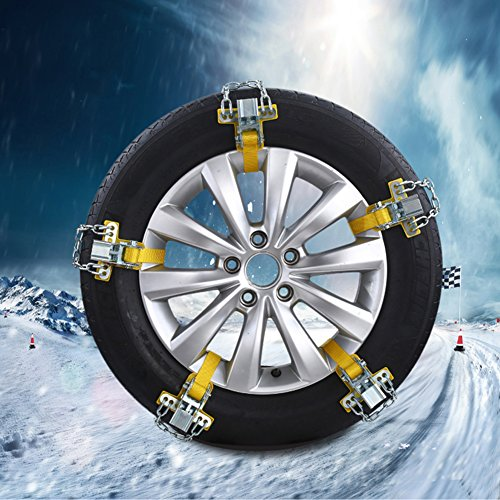 Pueri Schneeketten Auto Schnee Reifen Kette Mangan Stahl Auto Reifen Notfall Schnee Reifen Kette Auto Sicherheitskette (S) (Schneeketten Für Kleine Reifen)