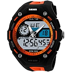 Men's watch - SKMEI Men's Mountaineer waterproof electronic watch orange