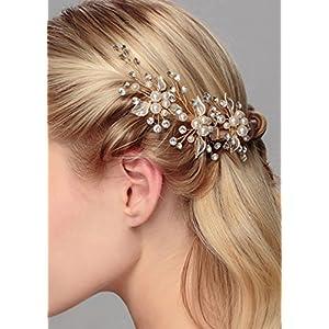 Gracewedding Brautschmuck, Haarnadeln für Damen, mit Kunstperlen und Kristallsteinen besetzt, Kopfschmuck für Hochzeiten, Haar-Accessories, Braut-Haarschmuck, Vintage-Schmuck für Party und Abend, 3Stück