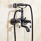 Dusche Europäische Antike alle Kupfer Bad Wasserhahn Messing Badezimmer ausgesetzt Dusche Armaturen Wand montiert Bad Mixer Dusche Set Wasserhahn , 1
