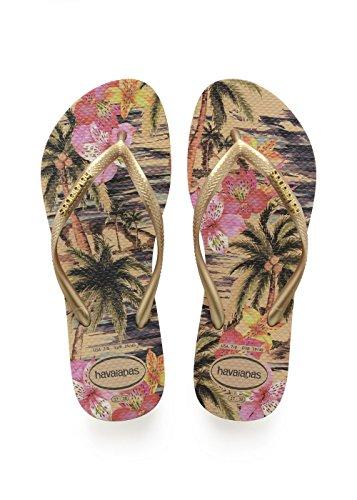 Havaianas Damen Slim Tropical Zehentrenner, Beige (Ivory), 39/40 EU (37/38 BR)