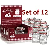 Kilner 70 ml Mini Spice Herb Clip Top Jam Jars (Pack of 12)