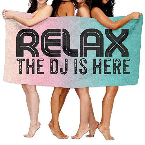 Walnut Cake Strandtücher Handtücher Relax The DJ is Here Microfiber Fast Drying Bath Towels Swimming Camping Towel, Adults Spa Bath Towel 31x51 Inches