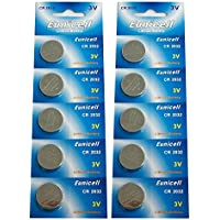 Eunicell CR2032 5004LC Lithium Blister Pack 3V 3 Volt Coin Cell Batteries (10 pcs) by Eunicell preisvergleich bei billige-tabletten.eu