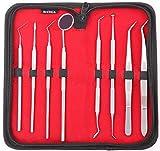 Einführungspreis. 8 Dental Zahnreinigungsset Sonde Edelstahl Instrumente Zahnsteinschaber Zahnsteinentferner Hochwertige, professionelle Qualität von Medtekco * Lifetime-Garantie