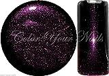 5 ml Glittergel, Farbgel, Black Magic Glitter LILA. UV-Gel (16) deckend !