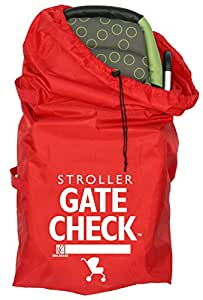 J.L. Childress Gate Check Bag For Standard and Double Strollers, Red by J.L. Childress
