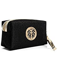 HOYOFO PU Beauty And Cosmetic Pouch / Bag / Case for Makeup Utensils And Toiletries Black