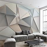 Tessuto non tessuto, carta da parati fotografica, sfondo murali in triangoli 3D, stile moderno IKEA KN-1901, XXL 400cm(B) x 280cm(H) 8-Bahne