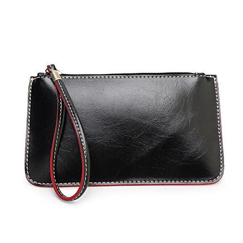 Mefly La Nuova Pelle Borsetta Telefono Mobile Wallet Blu Noble black