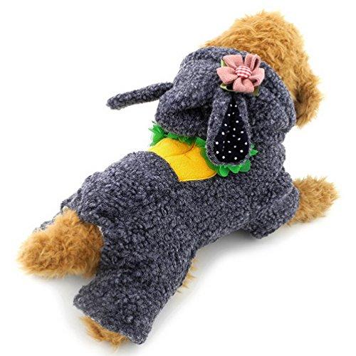 Kaninchen Hoodies Schlafanzüge Hundemantel Winter Jumpsuits Fleece, für kleine Hunde/Katzen (dieser Style Run klein, wählen Bitte eine Größe größer) (Scooby-halloween-kostüme)