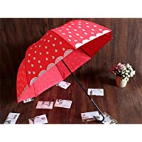 Super Personality Creative   Red Ms Girl Lovely Cartoon Watermelon Strawberry Umbrella Long-handled Umbrella Sunny Umbrella Princess Umbrella
