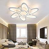 Modern Dimmbar Acryl Deckenleuchte Weiß Metall Schlafzimmerlampe Innenbeleuchtung Deckenlampe Für Wohnzimmer Schlafzimmerlampe Kinderlampe Bürodeckenleuchten Ø 67Cm 60W