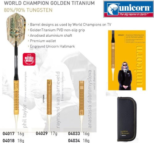 Unicorn Phil Taylor Soft 04018 Golden, 18 g for sale  Delivered anywhere in UK