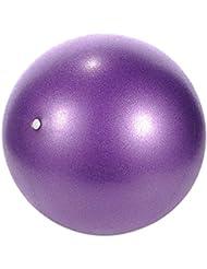 Hjuns–Pelota para ejercicio de 25 cm de Yoga o pilates, morado