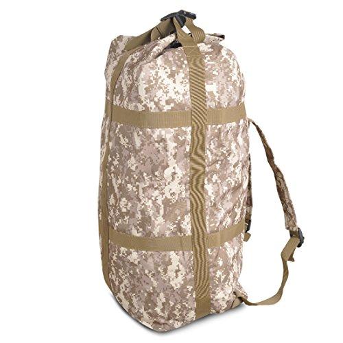 LF&F Backpack Camping outdoor Zaini Borse Zaino tattico di camuffamento ad alta capacità da 70 litri alpinismo ciclismo zaino da camuffamento viaggio sportivo Oxford impermeabile solido e resistente z F