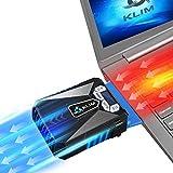 KLIM Cool Universaler Kühler für Spielekonsole Laptop PC – Hochleistungslüfter für schnelle Kühlung - USB Warmluft-Abzug (Blau)
