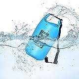 Queta Dry Bag/Wasserdichter Trockenbeutel (10L/Blau) Wasserfeste Tasche Ideal für Boot, Angeln, Rafting, Schwimmen und Camping Schützt Deine Wertsachen und Kleidung vor Wasser, Sand und Schmutz