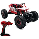 2,4Ghz Remote Control Rock Crawler RC Monstertruck 4WD 1:18 Ferngesteuertes Auto RTR Off-Road Fahrzeug Buggy Red Conqueror