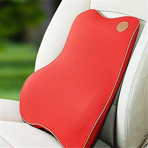 Preisvergleich Produktbild Auto Büro geringer Rückprall Memory Schaum Massage Rücken Cusion Schutz und Unterstützung der Taille , red