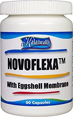 Kala Health Novoflexa - 60 vegetarian Egg shell membrane capsules, boswellia and hyaluronic acid without any additives for health and joint support by Kala Health
