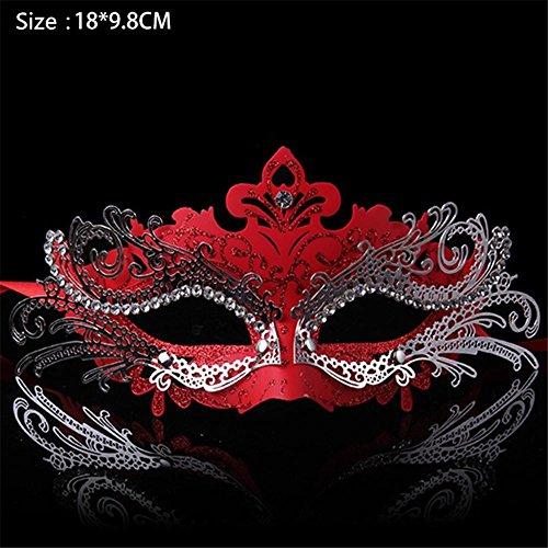 oween Maske Halbes Gesicht Weibliche Make-up Tanz Prinzessin Maske Spitze Kinder Maske Cosplay Weibliche Packung von 2 , 5 (Devil Cat-halloween-make-up)