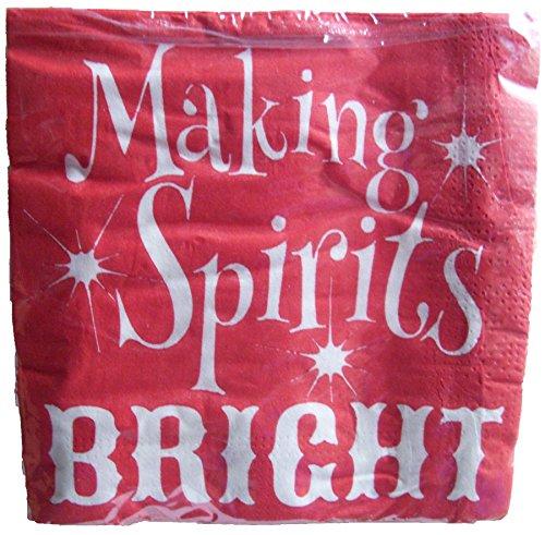 Macht Spirituosen Bright 10in. Getränke Servietten 24pro Packung Christmas Star Servietten