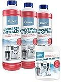 Cunea 3 x 750ml Entkalker und 350x Reinigungstabletten für Kaffeevollautomaten Kaffeemaschine geeignet für Delonghi Saeco Jura Bosch Melitta Siemens Krups Tassimo
