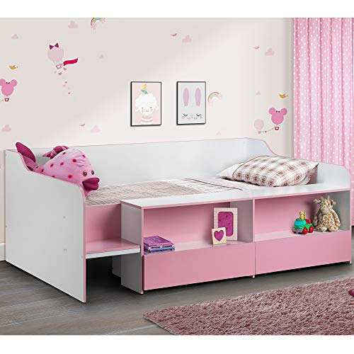 Happy Beds Cabin Bed Low Sleeper Pink Storage Frame for sale  Delivered anywhere in UK
