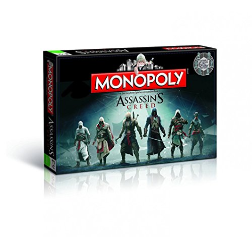 Monopoly - Assassin's Creed-Edition - 6 Sammler Spielfiguren | Gesellschaftsspiel | Brettspiel - Monopoly Creed Syndicate Assassins
