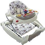 2IN1 Lauflernhilfe/Babyschaukel mit Spielcenter (12 Melodien) und Einlage (ELFENBEIN)