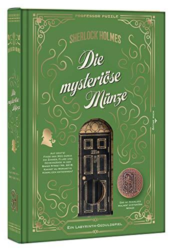 moses. 92103 Sherlock Holmes - Die mysteriöse Münze | Professor Puzzle Geduldspiel aus Holz | Labyrinth-Spiel, bunt