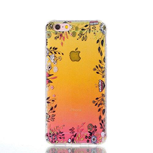 ZeWoo TPU Schutzhülle - YT01 / Bunte Schmetterlinge - für Apple iPhone 6 Plus (5,5 Zoll) Silikon Hülle Case Cover YT06