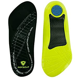 Womens - Green , W 6-10 : Sof Sole Plantar Fascia Comfort Gel Shoe Insole for Men and Women with Heel Spurs and Plantar Fasciitis