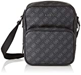 Guess City Logo Top Zip Crossbody, Borsa Messenger Uomo, Nero (Black), 20x23x10 cm (W x H x L)