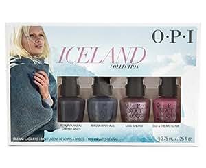 OPI Iceland, set di mini smalti, 3,75ml, confezione da 4