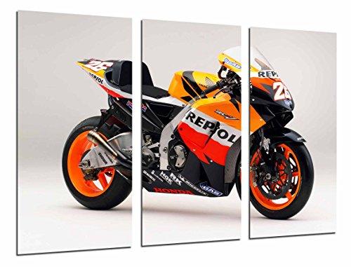 Poster Fotográfico Moto Honda, Dani Pedrosa, Naranja Tamaño total: 97 x 62...