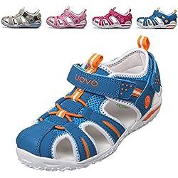 chengniu sandali estivi a strappo ragazzo con solette foderate di pelle Sandali sportivi da Arrampicata bambino (EU-31, Blu)