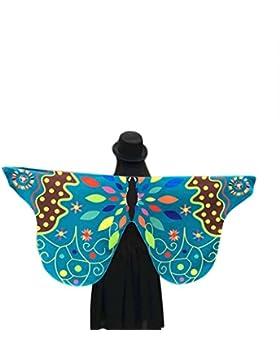 Accesorio de mariposa de tela para disfraz de Halloween, marca Cinnamon, para mujer (145 x 65cm).