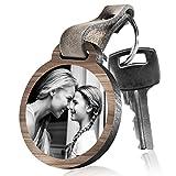 schenkYOU Schlüsselanhänger aus Holz Engel ohne Flügel. mit rückseitiger Fotogravur