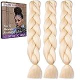 Jumbo Braids-Premium Qualität 100% Kanekalon Braiding Haarverlängerung Full Bundles 100g / pc Synthetik Haar Ombre 24Inch 3Pcs / lot Hitzebeständig, lange Zeit mit-37 Farben 2Tone & 3Tone, Garantie 1 Woche ändern oder Rückerstattung(Farbe 72)