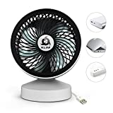 KLIM Breeze - Ventilateur de Bureau USB Haute Performance - Ventilo de Table - Silencieux et Ajustable - Blanc [ Nouvelle 2018 Version ]