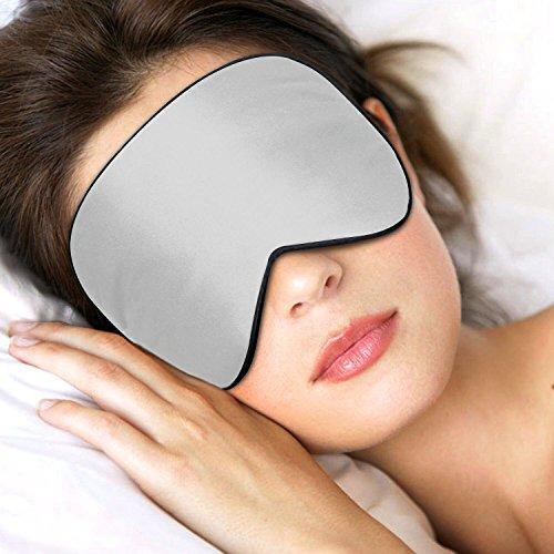 Lifebee Masque des Yeux pour Dormir 100% Soie Naturelle Occultant Ultra-Douce Masque de Sommeil Lanière Réglable Gris