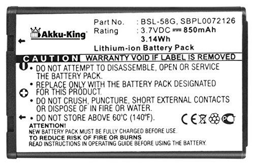 Akku-King Akku ersetzt LG BSL-58G, LGIP- A800 - Li-Ion 850mAh - für C3100, C3300, C3310, C3320, C3380, G650, GT-8124, L342i, L5100, M4410, T5100