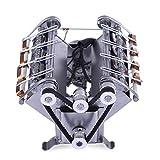 TETAKE V8 Motor Bausatz, 8 Zylinder High Speed Elektromagnetisch Motor Modell, Automotor Arbeitsprinzip Stem Spielzeug