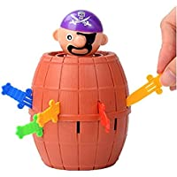 Vikenner Pop Up Pirate Game Funny Pirate Bucket Insert Sword Game Trick Toys Children's Preschool Action Game