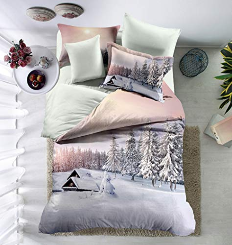 Funda Nordica King Size.Jsdjsuit Funda Nordica Cama De Snow Scene 3d Printed Bedclothes Sheet Pillowcase Quilt Cover Queen King Size Winter Bedding Sets Eu Single 2pcs