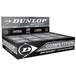 """Dunlop Pelotas de squash - Paquete De 12 - """"Competencia"""" / amarillo, 1x Pelota Squash - Todas las pelotas Dunlop están diseñados con tecnología de la construcción N-1SR³, un polímero de hidrocarburo elástico con 12 compuestos para crear un material d..."""