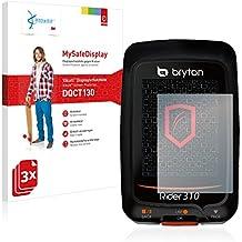 3x Vikuiti MySafeDisplay Protector de Pantalla DQCT130 de 3M para Bryton Rider 310